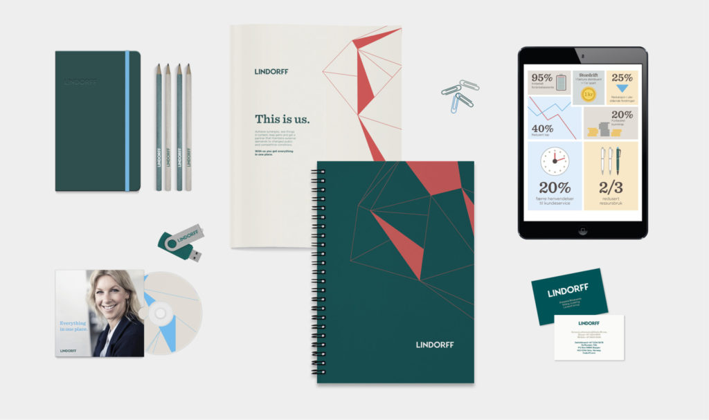 examples of graphics/branding for Lindorff