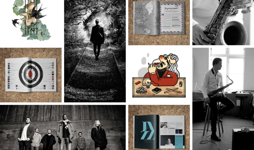 Spreads, photos and illustrations from Note magazine