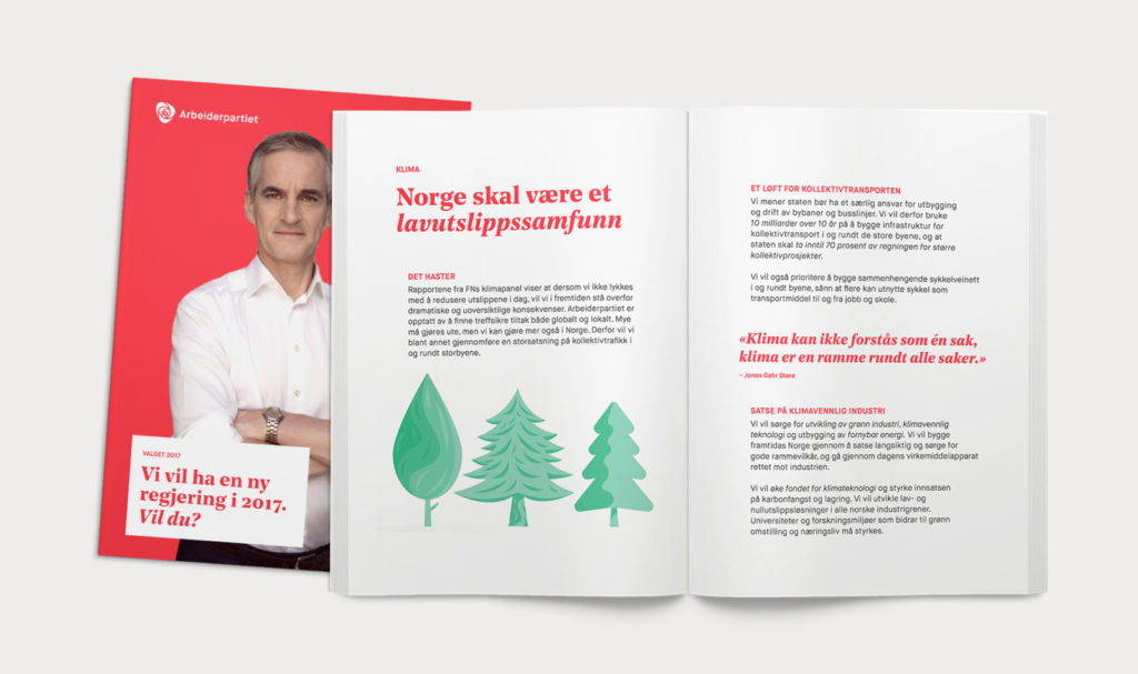 Magazine spread for Arbeiderpartiet