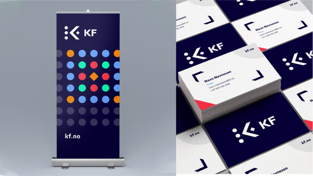 Graphics/branding for KF – Rollup and business cards