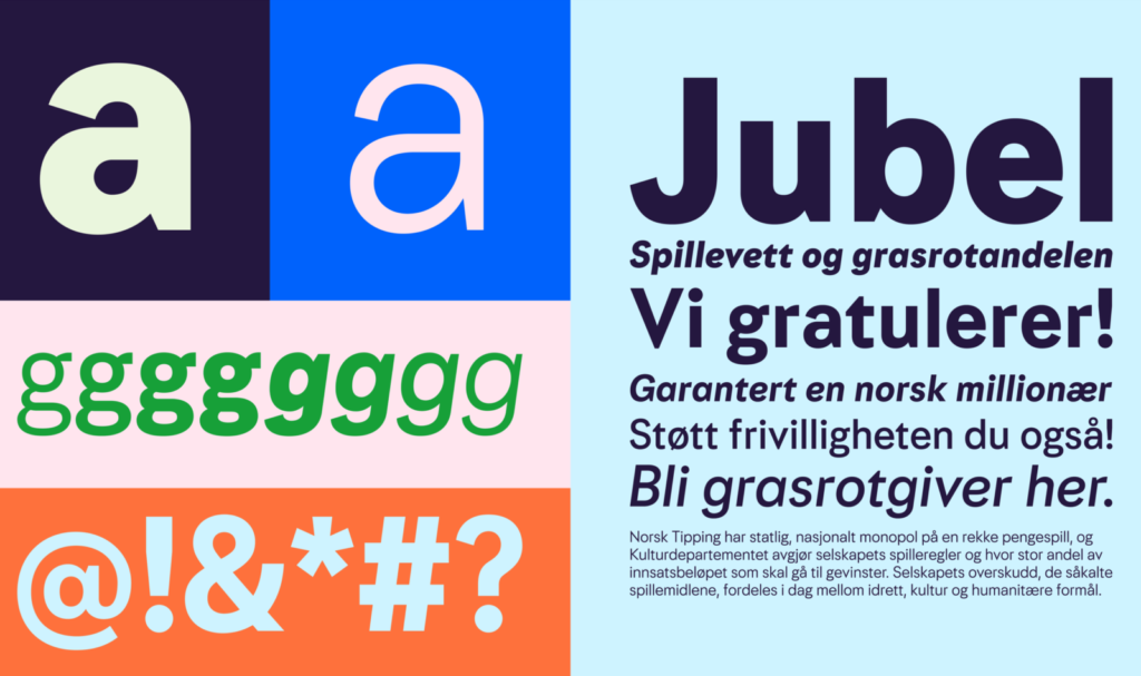 Norsk Tipping visual identity graphics