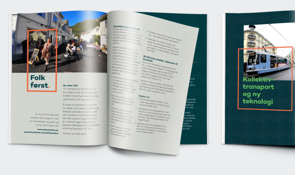Magazine spreads for Venstre